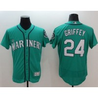 Mariners #24 Ken Griffey Green Flexbase Authentic Collection Stitched Baseball Jersey