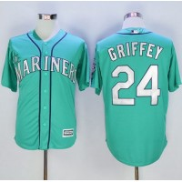 Mariners #24 Ken Griffey Green New Cool Base Stitched Baseball Jersey