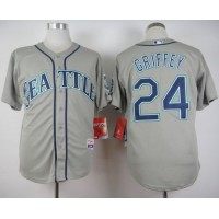 Mariners #24 Ken Griffey Stitched Grey Cool Base Baseball Jersey