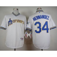 Mariners #34 Felix Hernandez White 1979 Turn Back The Clock Stitched Baseball Jersey