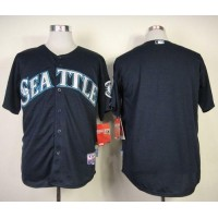 Mariners Blank Navy Blue Cool Base Stitched Baseball Jersey