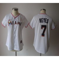 Marlins #7 Jose Reyes White Women's Fashion Stitched Baseball Jersey