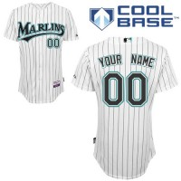 Marlins Personalized Authentic White Baseball Jersey (S-3XL)