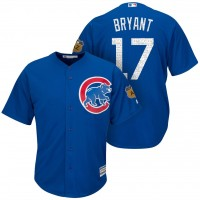 Men's Chicago Cubs #17 Kris Bryant 2017 Spring Training Cool Base Stitched MLB Jersey