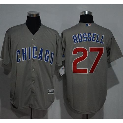45f396b717a cheapest mens chicago cubs 27 addison russell grey new cool base stitched  baseball jersey 9cf25 1e333