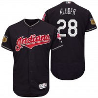 Men's Cleveland Indians #28 Corey Kluber 2017 Spring Training Flex Base Authentic Collection Stitched Baseball Jersey