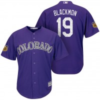 Men's Colorado Rockies #19 Men's Charlie Blackmon 2017 Spring Training Cool Base Stitched MLB Jersey