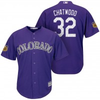 Men's Colorado Rockies #32 Tyler Chatwood 2017 Spring Training Cool Base Stitched MLB Jersey