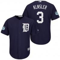 Men's Detroit Tigers #3 Ian Klnsler 2017 Spring Training Cool Base Stitched MLB Jersey