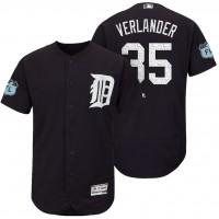 Men's Detroit Tigers #35 Justin Verlander 2017 Spring Training Flex Base Authentic Collection Stitched Baseball Jersey