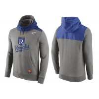 Men's Kansas City Royals Nike Gray Cooperstown Collection Hybrid Pullover Hoodie