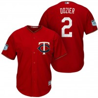 Men's Minnesota Twins #2 Brian Dozier 2017 Spring Training Cool Base Stitched MLB Jersey
