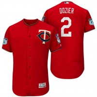Men's Minnesota Twins #2 Brian Dozier 2017 Spring Training Flex Base Authentic Collection Stitched Baseball Jersey