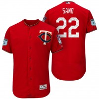 Men's Minnesota Twins #22 Miguel Sano 2017 Spring Training Flex Base Authentic Collection Stitched Baseball Jersey