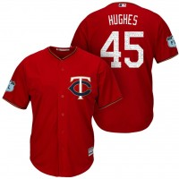 Men's Minnesota Twins #45 Phil Hughes 2017 Spring Training Cool Base Stitched MLB Jersey