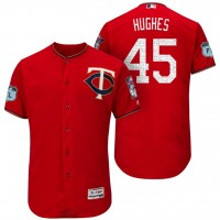 Men's Minnesota Twins #45 Phil Hughes 2017 Spring Training Flex Base Authentic Collection Stitched Baseball Jersey