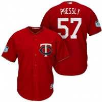 Men's Minnesota Twins #57 Ryan Pressly 2017 Spring Training Cool Base Stitched MLB Jersey