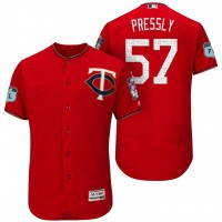 Men's Minnesota Twins #57 Ryan Pressly 2017 Spring Training Flex Base Authentic Collection Stitched Baseball Jersey