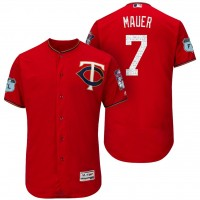 Men's Minnesota Twins #7 Joe Mauer 2017 Spring Training Flex Base Authentic Collection Stitched Baseball Jersey