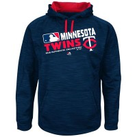 Men's Minnesota Twins Authentic Collection Navy Team Choice Streak Hoodie