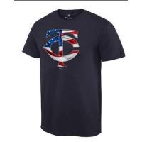 Men's Minnesota Twins USA Flag Fashion T-Shirt Navy Blue