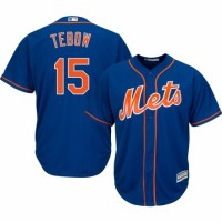 Men's New York Mets #15 Tim Tebow Majestic Blue Cool Base Player Jersey