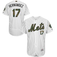 Men's New York Mets #17 Keith Hernandez White(Blue Strip) Flexbase Authentic Collection 2016 Memorial Day Stitched Baseball Jersey