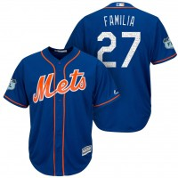 Men's New York Mets #27 Jeurys Familia 2017 Spring Training Cool Base Stitched MLB Jersey