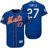 Men's New York Mets #27 Jeurys Familia 2017 Spring Training Flex Base Authentic Collection Stitched Baseball Jersey
