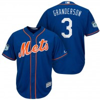 Men's New York Mets #3 Curtis Granderson 2017 Spring Training Cool Base Stitched MLB Jersey