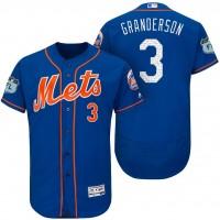 Men's New York Mets #3 Curtis Granderson 2017 Spring Training Flex Base Authentic Collection Stitched Baseball Jersey
