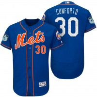 Men's New York Mets #30 Michael Conforto 2017 Spring Training Flex Base Authentic Collection Stitched Baseball Jersey