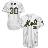 Men's New York Mets #30 Nolan Ryan White(Blue Strip) Flexbase Authentic Collection 2016 Memorial Day Stitched Baseball Jersey
