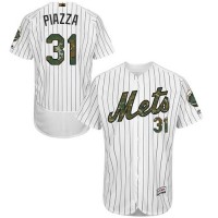 Men's New York Mets #31 Mike Piazza White(Blue Strip) Flexbase Authentic Collection 2016 Memorial Day Stitched Baseball Jersey