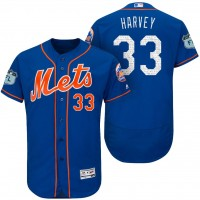 Men's New York Mets #33 Matt Harvey 2017 Spring Training Flex Base Authentic Collection Stitched Baseball Jersey