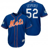 Men's New York Mets #52 Yoenis Cespedes 2017 Spring Training Cool Base Stitched MLB Jersey
