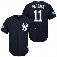 Men's New York Yankees #11 Brett Gardner 2017 Spring Training Cool Base Stitched MLB Jersey