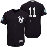 Men's New York Yankees #11 Brett Gardner 2017 Spring Training Flex Base Authentic Collection Stitched Baseball Jersey