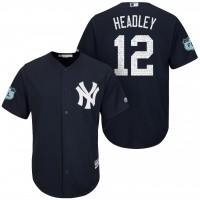 Men's New York Yankees #12 Chase Headley 2017 Spring Training Cool Base Stitched MLB Jersey