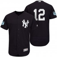 Men's New York Yankees #12 Chase Headley 2017 Spring Training Flex Base Authentic Collection Stitched Baseball Jersey