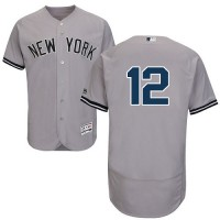 Men's New York Yankees #12 Chase Headley Grey Flexbase Collection MLB Jersey