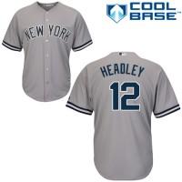 Men's New York Yankees #12 Chase Headley Grey Road MLB