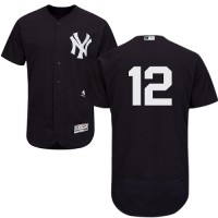 Men's New York Yankees #12 Chase Headley Navy Flexbase Collection MLB Jersey