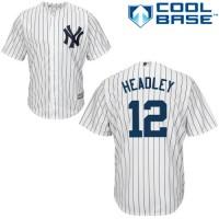 Men's New York Yankees #12 Chase Headley White Home MLB