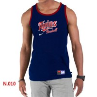 Men's Nike Minnesota Twins Home Practice Tank Top Blue