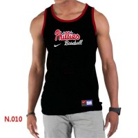 Men's Nike Philadelphia Phillies Home Practice Tank Top Black