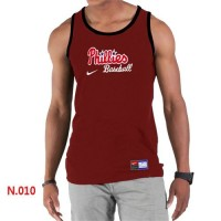 Men's Nike Philadelphia Phillies Home Practice Tank Top Red