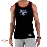Men's Nike Tampa Bay Rays Home Practice Tank Top Black