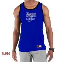 Men's Nike Tampa Bay Rays Home Practice Tank Top Blue