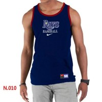 Men's Nike Tampa Bay Rays Home Practice Tank Top Dark Blue